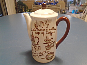Antique Music Box Relco Coffee Pot 1949