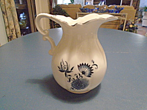 Blue Onion Serving Pitcher Unmarked And Mint