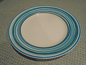 Corelle Blue Brushed Strokes Lunch Plates