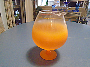 West Virginia Brandy Snifter In Orange And Clear
