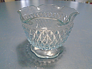 Indiana Glass Light Blue Diamond Open Sugar Bowl/Small Bowl (Image1)