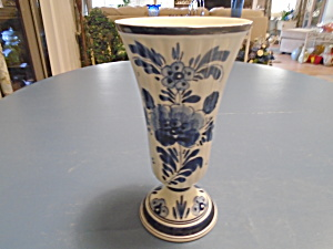Antique Delfts Numbered And Signed Vase Made In Holland