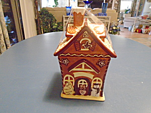 Ceramic Gingerbread House Cookie Jar