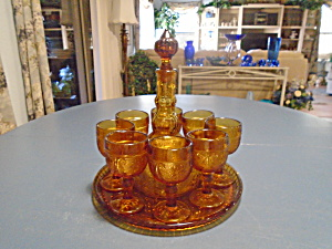 Indiana Glass Tiara Sandwich Wine Set - Complete Set