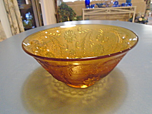 Indiana Glass Tiara Amber Sandwich 10 In. Salad Bowls