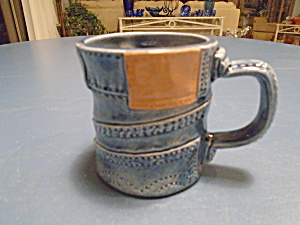 Shs 1980 Blue Denim 3.5 In. Tall Ceramic Mugs
