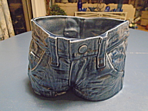 Shs 1980 Blue Denim Chip Bowl Or Cookie Jar