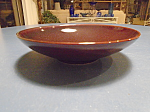 Crate & Barrel Mahogany Soup Bowls