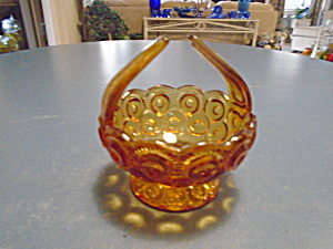 Le Smith Moon And Stars Small Amber Basket Open Handle