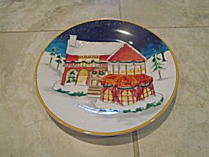 American Atelier 5053 Winter Village Salad Plate