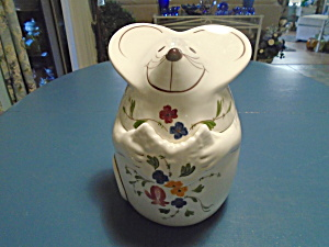 White Mouse Cookie Jar Cute