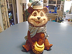 Brown Bear Cookie Jar Tall and Skinny Bear (Image1)