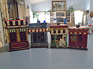 Cic Paris Set Of 4 Covered Canisters Really Cute Set