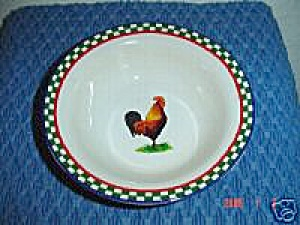 International Ella's Rooster Cereal Bowls
