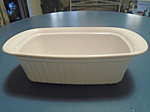 Corning Ware French White Loaf Pan