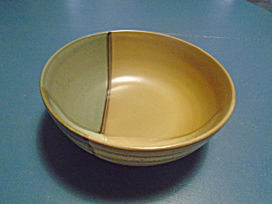Sango Gold Dust Green Serving Bowl