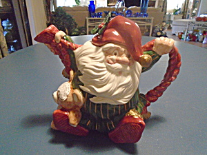 Fitz & Floyd Old World Elf Ceramic Tea Pot 1989 Mint Vintage