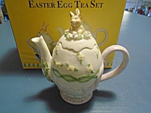 Beautiful Easter Egg Tea Set New in Box Miniature (Image1)