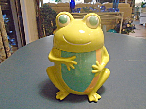 Cute Frog Cookie Jar By Home Ceramic 2009