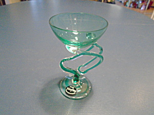 Jozefina Krosno Green Champagne/cocktail Spiral Handle Unique
