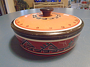 Tabletops Hopi Covered Tortilla Serving Bowl