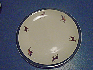 Tienshan Hand Decorated By Geoff Hager Dinner Plates Deer, Elk, Etc.