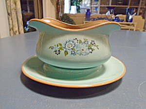 Taylor, Smith, And Tayler Azura Gravy Boat And Under Plate