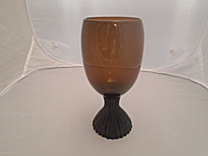 Lenox Nutmeg Brown Wine Glasses Mint