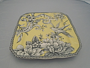 222 Fifth Adelaide Yellow Appetizer Plates Square (Image1)