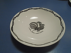 Harmony House Daybreak Rooster Serving Bowl Vintage