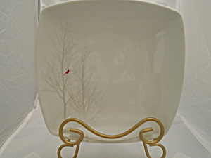 222 Fifth Winter Cardinal Square Soup Bowl (Image1)