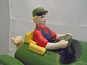 John Deere Tractor By Gibson Riding Dog On Back