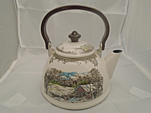 Johnson Bros. Friendly Village Metal 4 Cup Tea Kettle (Stovetop)