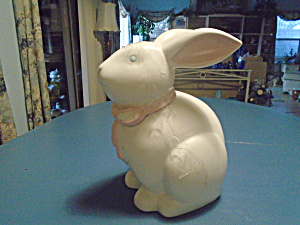 Home Large White Rabbit Cookie Jar