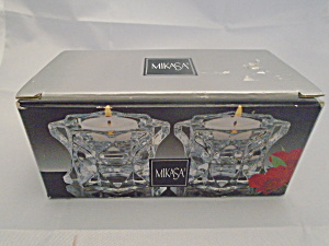 Mikasa Sparkling Star Pair of New in the Box Candleholders (Image1)