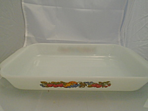 Fire King Nature's Bounty 2 Quart Baking Pan #431