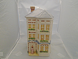 Avon Townhouse Canister Representative Gift Cookie Jar Collectible