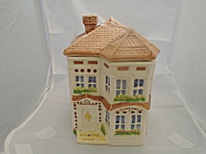 Avon Townhouse Large Canister Representative Gift Collectible