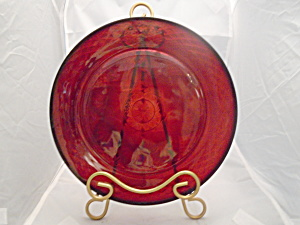 Luminarc France Dinner Plates Cris D'arques/durand Arty Red