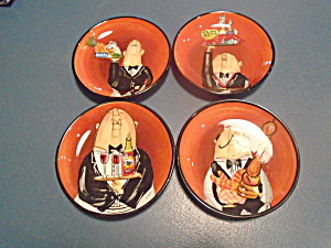 Cic Dinner Is Served Oil Dipping Plates Set Of 4