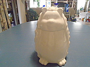 Dolomite Porcupine Cookie Jar Blue Harbor Collection NEW  (Image1)