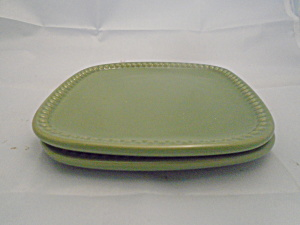 Princess House Pavillion Olive Appetizer Plates 2 Plates