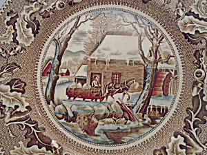 Johnson Bros Historic America Thanksgiving Frozen Up Service Plate