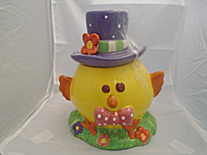 Cracker Barrel Flower Power Cookie Jar