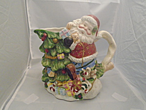 Santa Claus Tree Serving Pitcher Ceramic and 3D Great Gift (Image1)