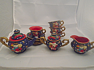 Miniature Christmas Tea Set Santa and Snowman  (Image1)