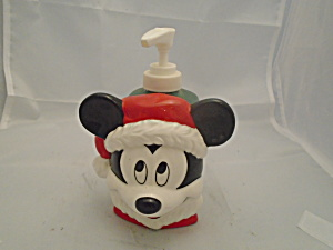 Mickey Mouse Disney Lotion/soap Holder Christmas