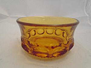 Indiana Glass Thumbprint Tiara Amber Dessert Bowl (Image1)