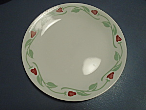 Corelle Red Tulip Buds Dinner Plates (Image1)