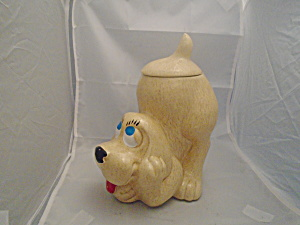 Mccoy Thinking Pup Stoneware Cookie Jar 272 Tan